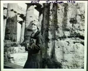 Ava Helen Pauling at The Temple of Neptune. Paestum, Italy.