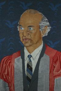 Needlepoint Portrait of Linus Pauling, by Jean Salvinien