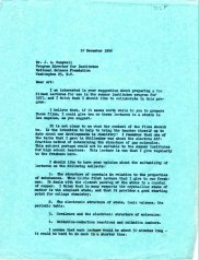 Letter from Linus Pauling to J.A. Campbell, December 10, 1956.