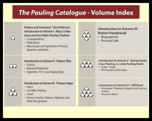 A brief overview of the six volumes that comprise The Pauling Catalogue