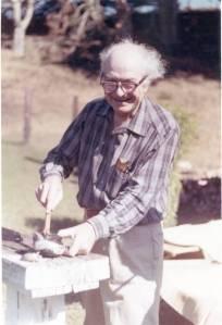 Linus Pauling harvesting abalone, 1963.
