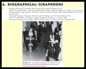Example text and image from The Pauling Catalogue scrapbooks series