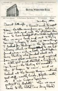 Page 1 of a letter sent by Linus Pauling to Ava Helen Pauling, August 16, 1942.