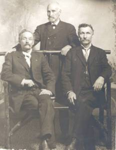 William Darling, William Darling Jr. and Linus Wilson Darling, ca. 1870.