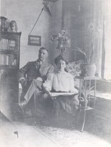 Linus Wilson Darling and his third of four daughters, Estella, early 1900s.