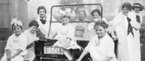 Ava Helen Miller, Pearl Miller, LuGorgo Miller, Lillian Miller, Nora Gard Miller, Pat Miller, unidentified, Mary Miller and Blanche Rogers.