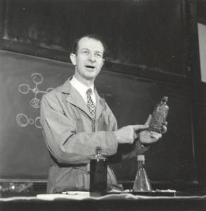 Linus Pauling, in lecture at the California Institute of Technology. 1935.