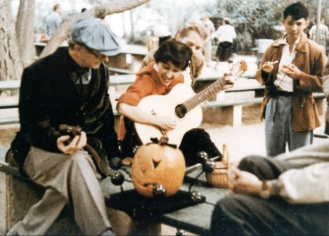 Linus Pauling at a Halloween gathering, 1950s?