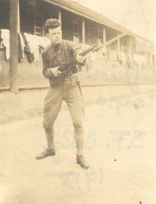 Military training at the Presidio, San Francisco, California, Summer 1918.