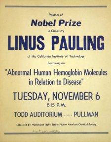 "Flyer for ""Abnormal Human Hemoglobin Molecules in Relation to Disease."" November 6, 1956."