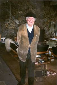 Linus Pauling at his Deer Flat Ranch home, near Big Sur, California. 1987.
