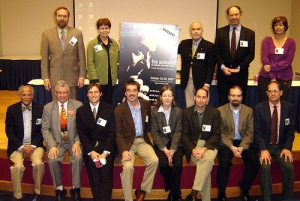 Participants in the 2007 Pauling Conference.  Dr. Lubchenco stands in the back row, second from left.  Dr. Washington is seated on the far left.