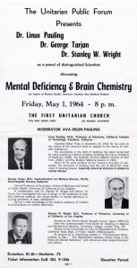 """Mental Deficiency & Brain Chemistry."" May 1, 1964."