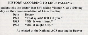Anecdote published in Chemtech, September 1994.