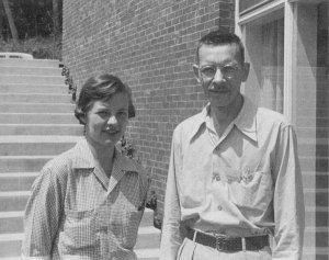 Martha Chase and Alfred Hershey, 1953.