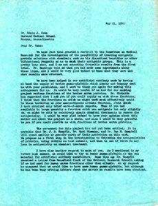 Linus Pauling to Edward Cohn, May 21, 1942, page 1.