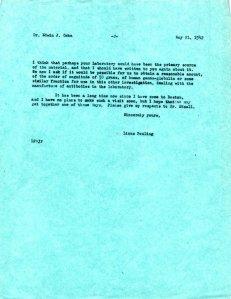 Linus Pauling to Edward Cohn, May 21, 1942, page 2.