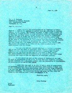 Linus Pauling to A.N. Richards, June 14, 1944.