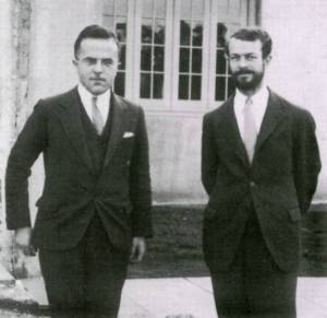 Jack Sherman and Linus Pauling, 1935.