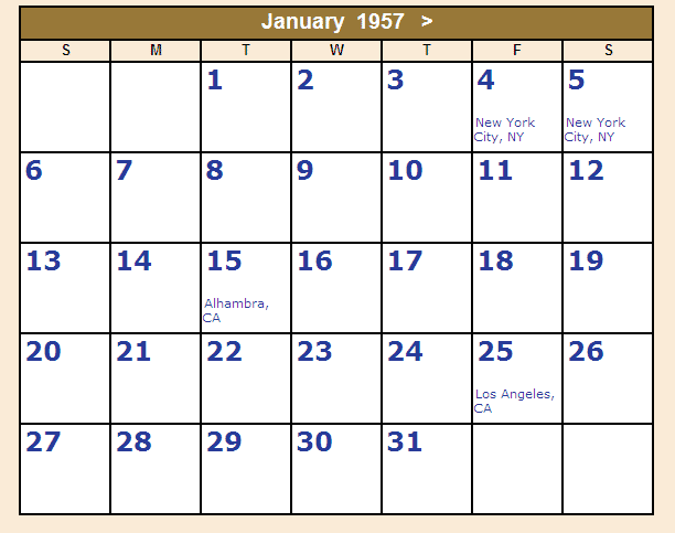 Year Calendar Grid : The building blocks of linus pauling day by part