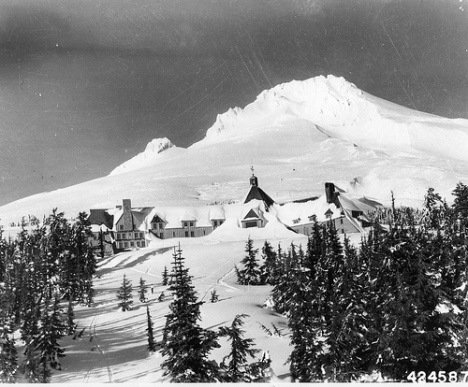 Timberline Lodge at Mt. Hood, 1943.  Part of the OSU Archives new addition to the Flickr Commons.