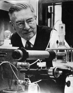 Portrait of Peter J.W. Debye.  Image courtesy of the Michigan State University department of Chemistry.