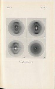 Astbury's 1947 photographs of DNA.