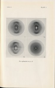 Astbury's 1947 photographs of DNA.