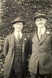 Linus Pauling and Paul Emmett, 1920.