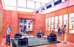 Final display foyer artist's conception.