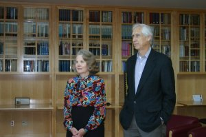 Judith and Peter Freeman, sponsors of the Resident Scholar Program. Photo by Philip Vue.
