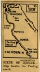 A map included with the Herald Tribune article.