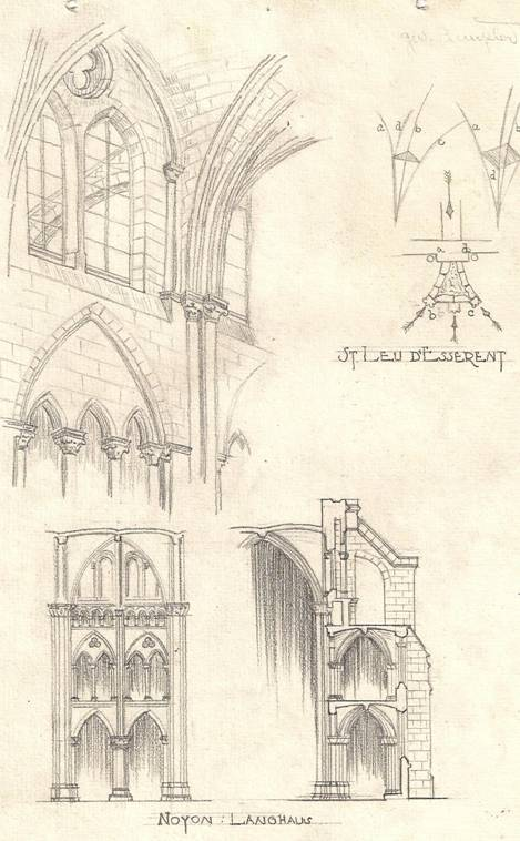 Gothic Sketches Commissioned By Cram And Ferguson 1926