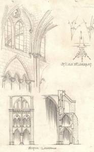 Gothic sketches commissioned by Cram and Ferguson, 1926.