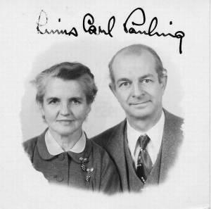 Ava Helen and Linus Pauling's passport photo. 1953.