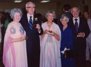 Pauline Pauling, Paul Emmett, Lucile Pauling, Ava Helen and Linus Pauling, 1976.