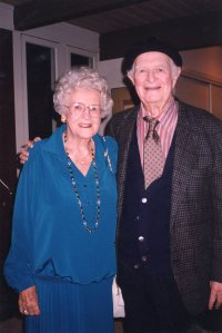 Pauline Pauling with her big brother Linus, 1993.