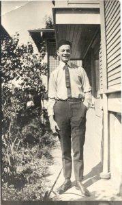 "Linus Pauling wearing his ""freshman beanie,"" ca. 1917."