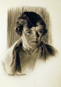 Portrait of Betty Hayward, Roger's wife of fifty-seven years.