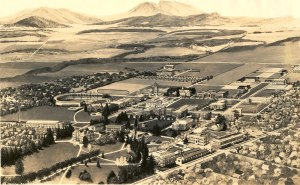 Painting of Oregon Agricultural College, ca. 1912.