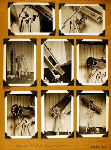 Throughout his life, Roger maintained a keen interest in optics and would eventually hold four patents related to telescope design.  This is likely the first telescope that he built.