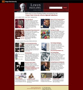Linus Pauling Online, launched January 2009.