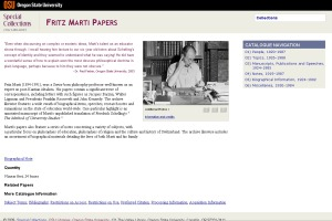 The Fritz Marti Papers - retired design.
