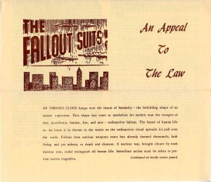Fallout Suits brochure, 1958.