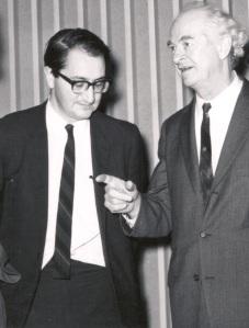 Martin Karplus and Linus Pauling, 1960s.