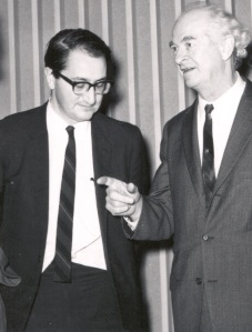 Martin Karplus and Linus Pauling, 1960s.