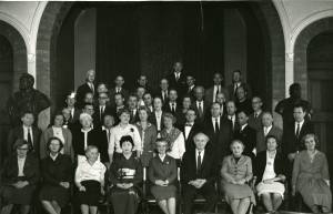 Group photo of participants in the Oslo Conference, 1961.