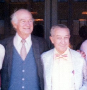 Linus Pauling and Irwin Stone, 1977.