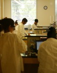 Chemistry students hard at work.