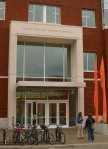 Main entrance to the Linus Pauling Science Center.